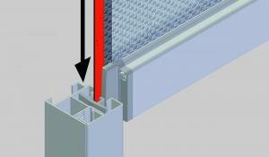 screen zipgeleider met voorlat